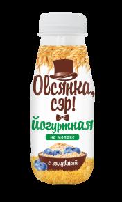 """""""Овсянка, сэр!"""" Йогуртно-овсяный напиток на молоке с голубикой, 250 г, 6  шт"""