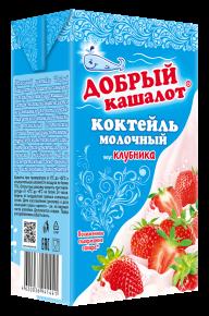 "Молочный коктейль ""Добрый кашалот"" клубника, 1030 г, 12 шт"