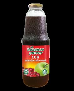 """Сок """"Зеленое ранчо"""" вишнево-яблочный, 1 л, 6 шт"""