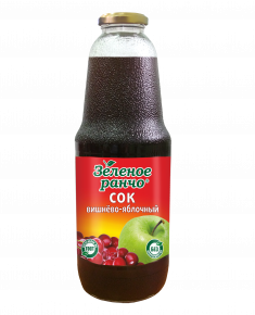 """Сок """"Зеленое ранчо"""" вишнево-яблочный, 1л, 6 шт"""